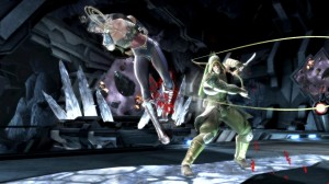 Injustice: Gods Among Us - Green Arrow and Wonder Woman in Batcave