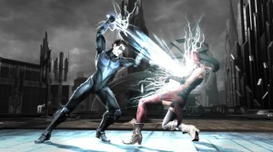 Injustice: Gods Among Us - Harley and Nightwing in Metropolis