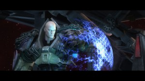 Injustice: Gods Among Us Luthor with shield